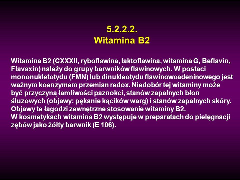 5.2.2.2. Witamina B2.