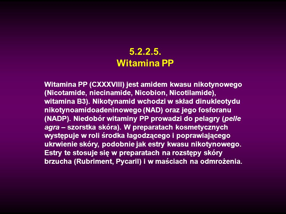 5.2.2.5.Witamina PP.