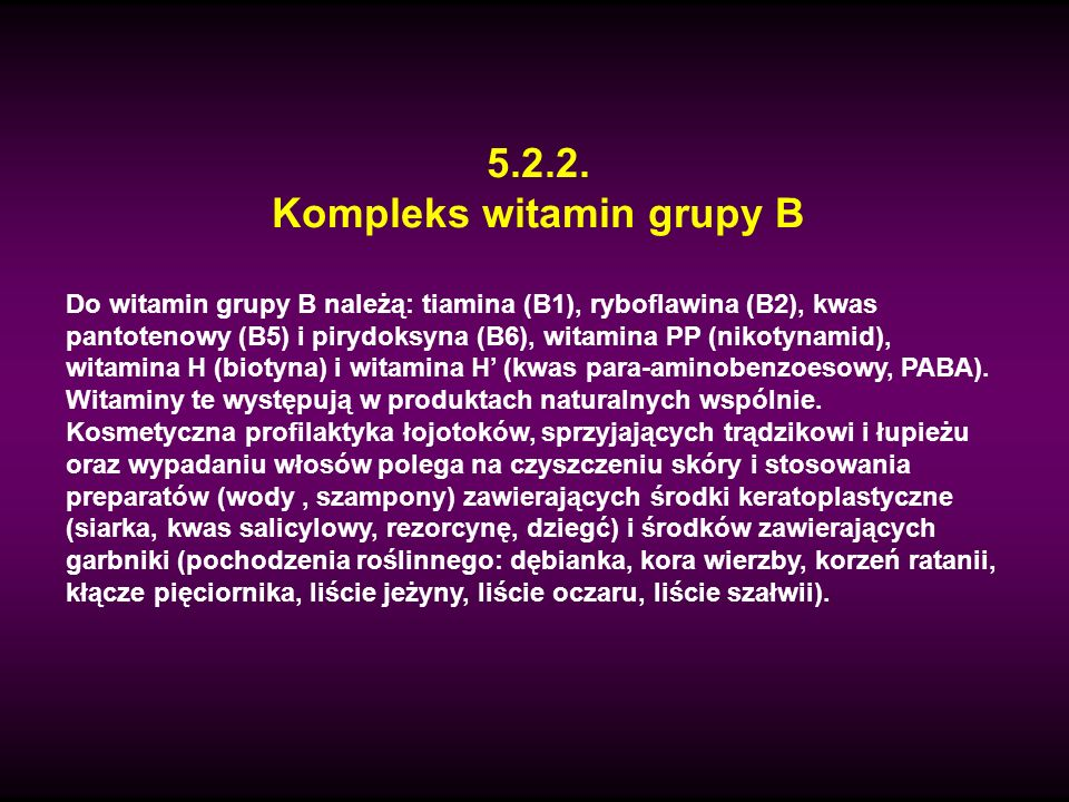 Kompleks witamin grupy B
