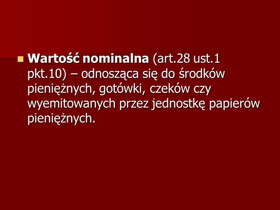 Wartość nominalna (art. 28 ust. 1 pkt