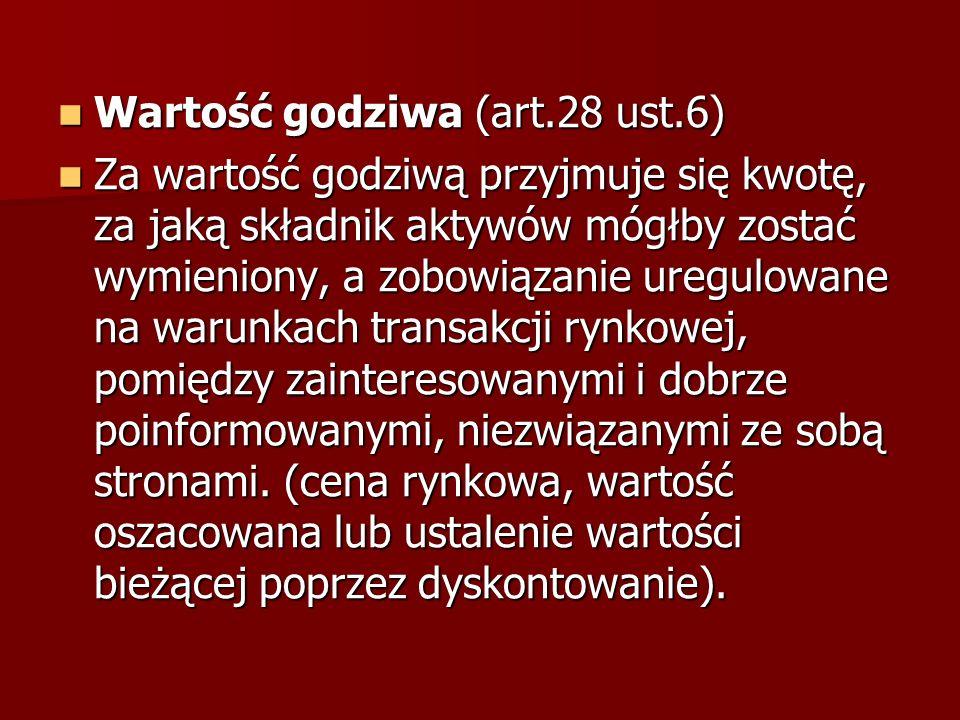 Wartość godziwa (art.28 ust.6)