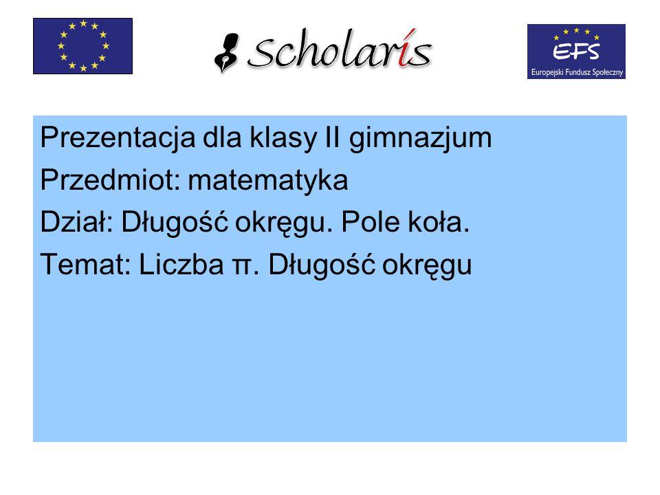 Prezentacja dla klasy II gimnazjum