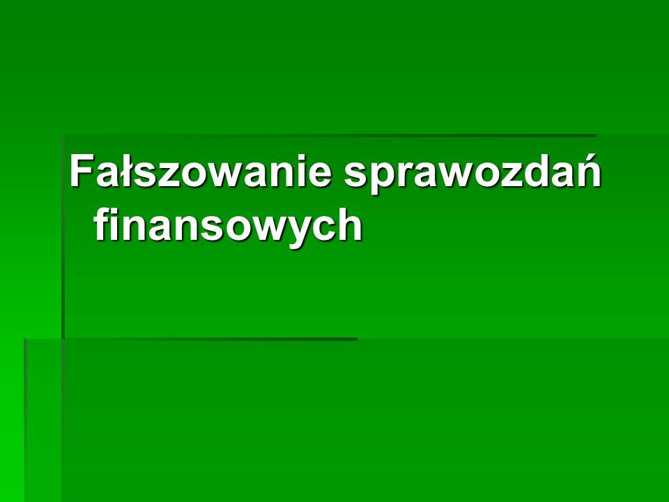 Fałszowanie sprawozdań finansowych