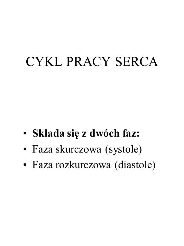 CYKL PRACY SERCA Składa się z dwóch faz: Faza skurczowa (systole)