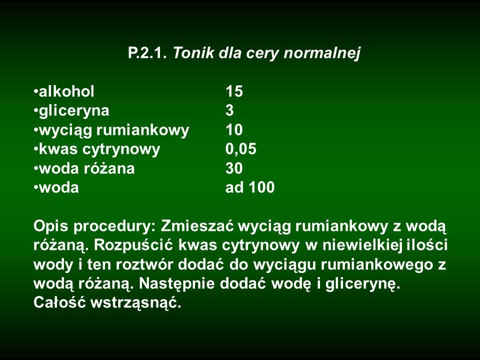 P.2.1. Tonik dla cery normalnej