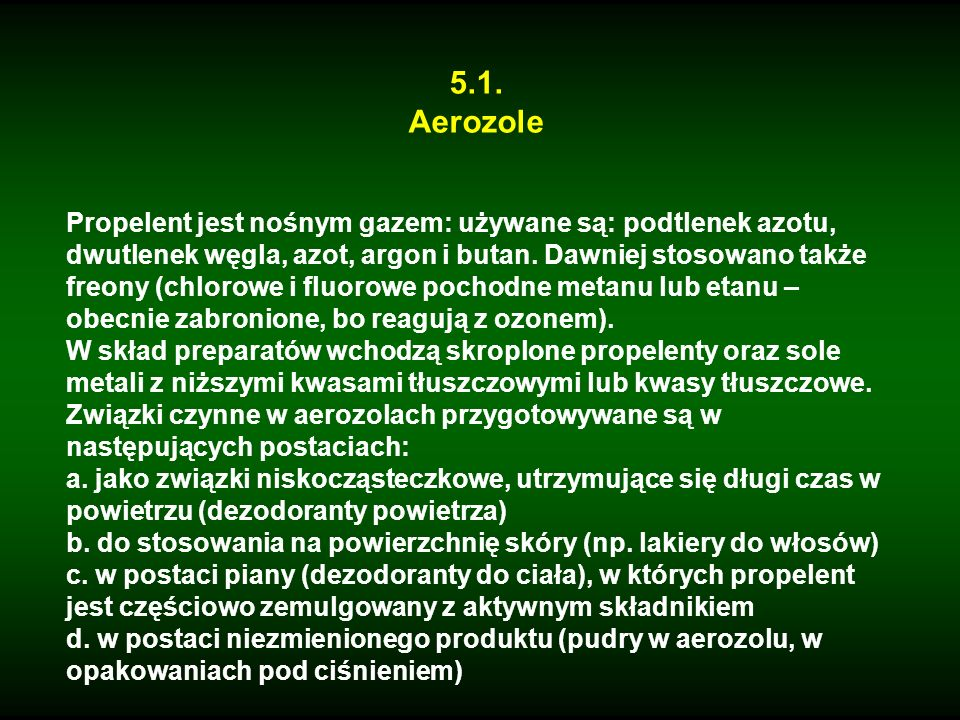 5.1. Aerozole.