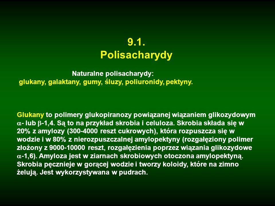 9.1. Polisacharydy Naturalne polisacharydy: