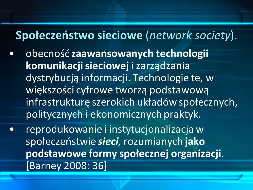 Społeczeństwo sieciowe (network society).