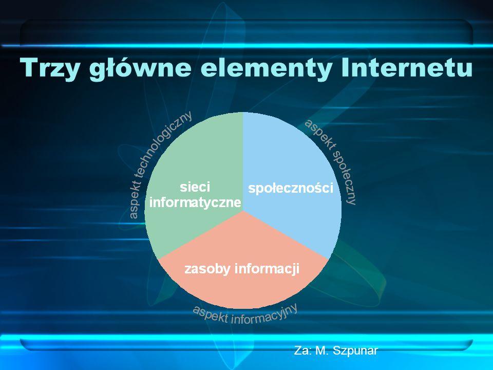 Trzy główne elementy Internetu