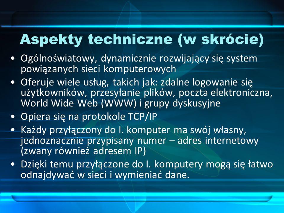 Aspekty techniczne (w skrócie)