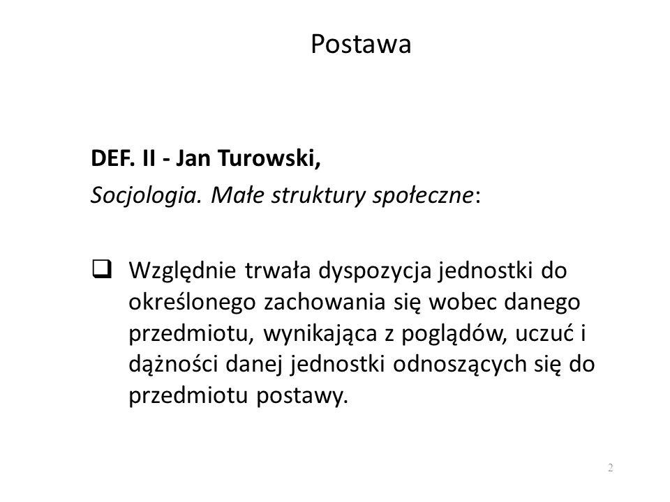Postawa DEF. II - Jan Turowski, Socjologia. Małe struktury społeczne: