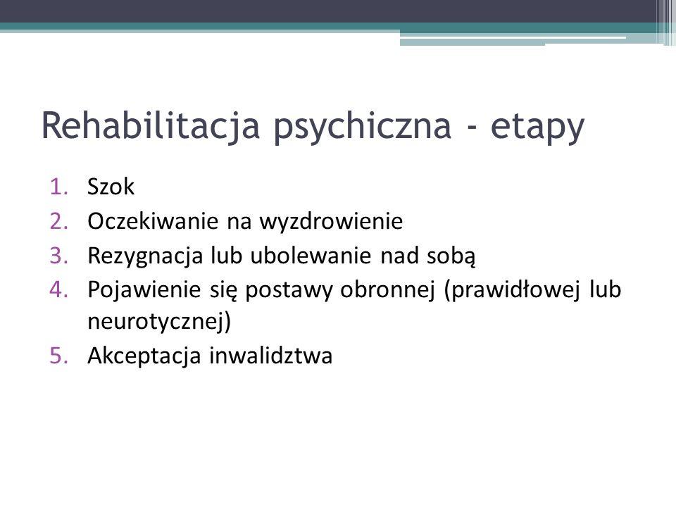 Rehabilitacja psychiczna - etapy