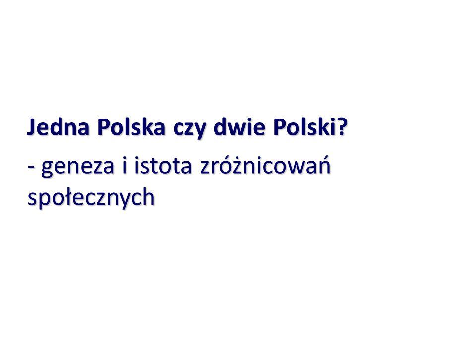 Jedna Polska czy dwie Polski