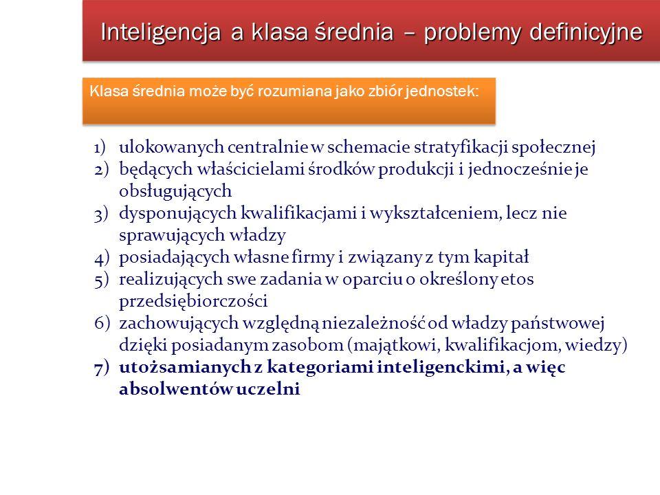 Inteligencja a klasa średnia – problemy definicyjne