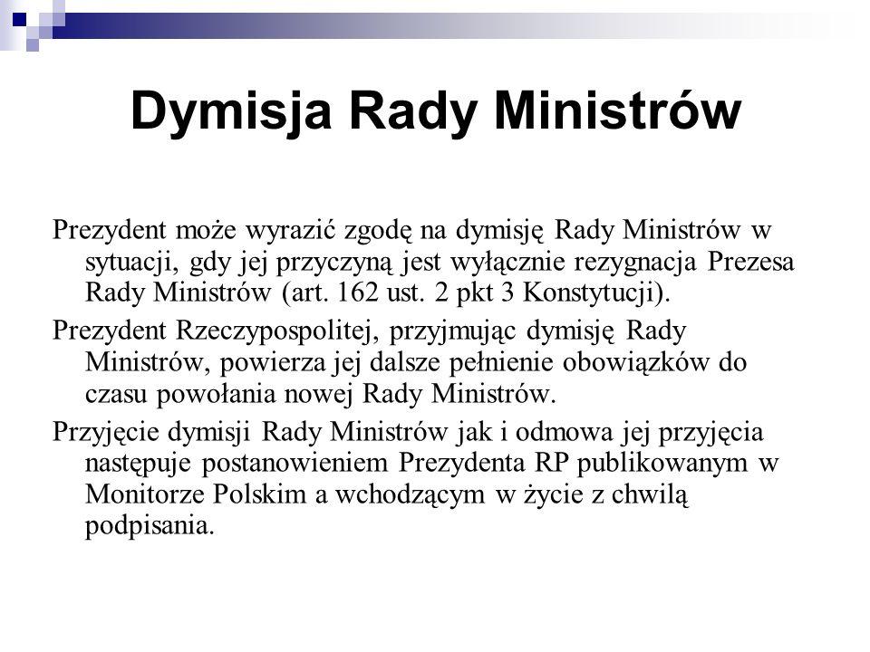 Dymisja Rady Ministrów