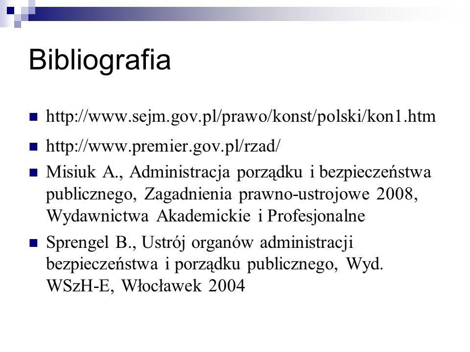 Bibliografia http://www.sejm.gov.pl/prawo/konst/polski/kon1.htm