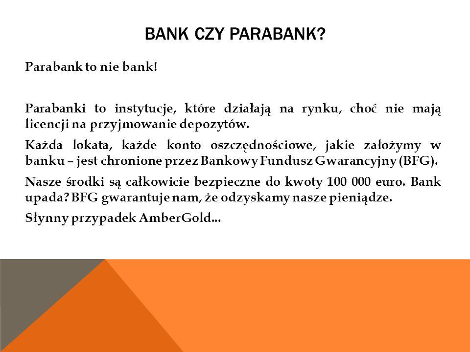Bank czy parabank
