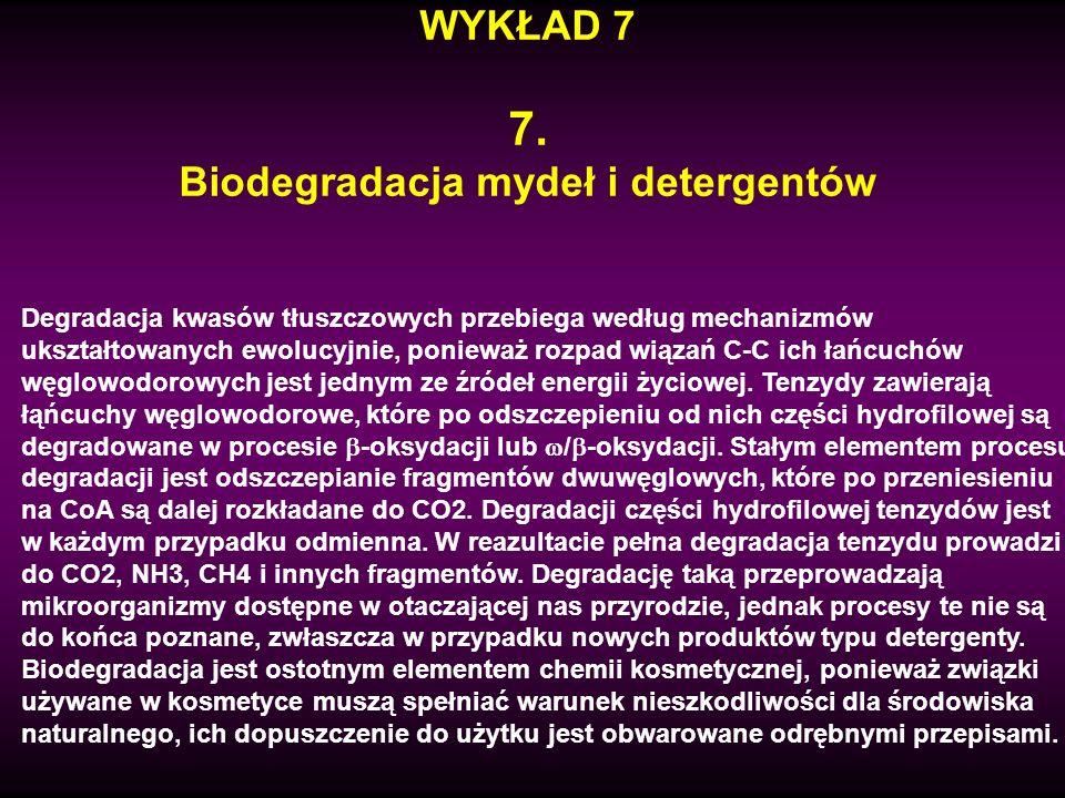 Biodegradacja mydeł i detergentów
