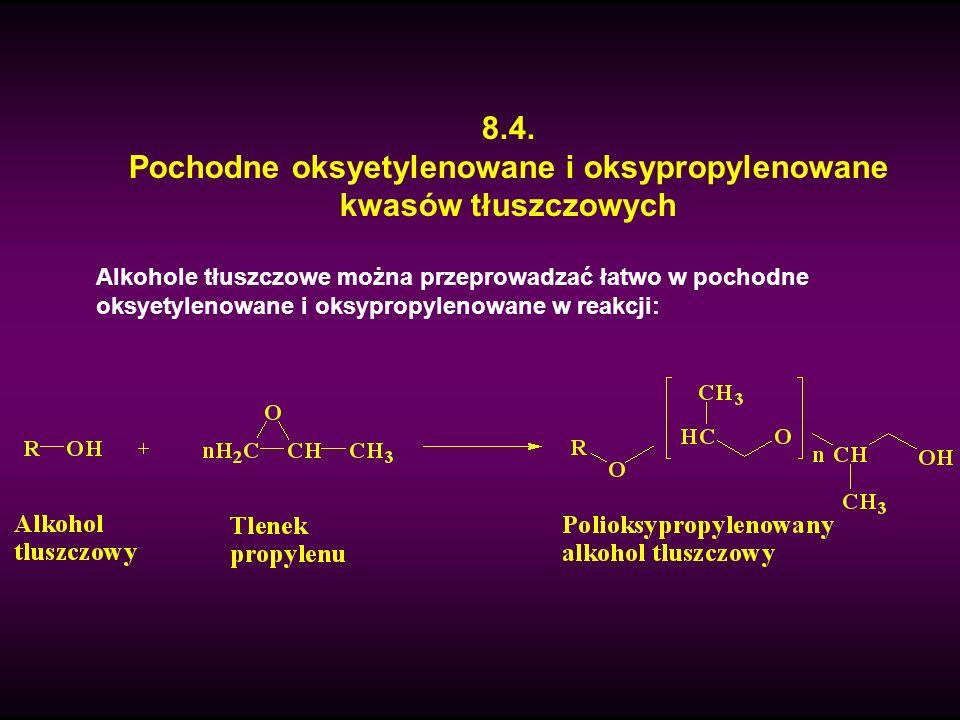 Pochodne oksyetylenowane i oksypropylenowane