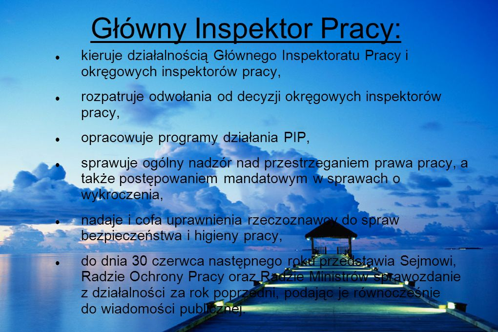 Główny Inspektor Pracy: