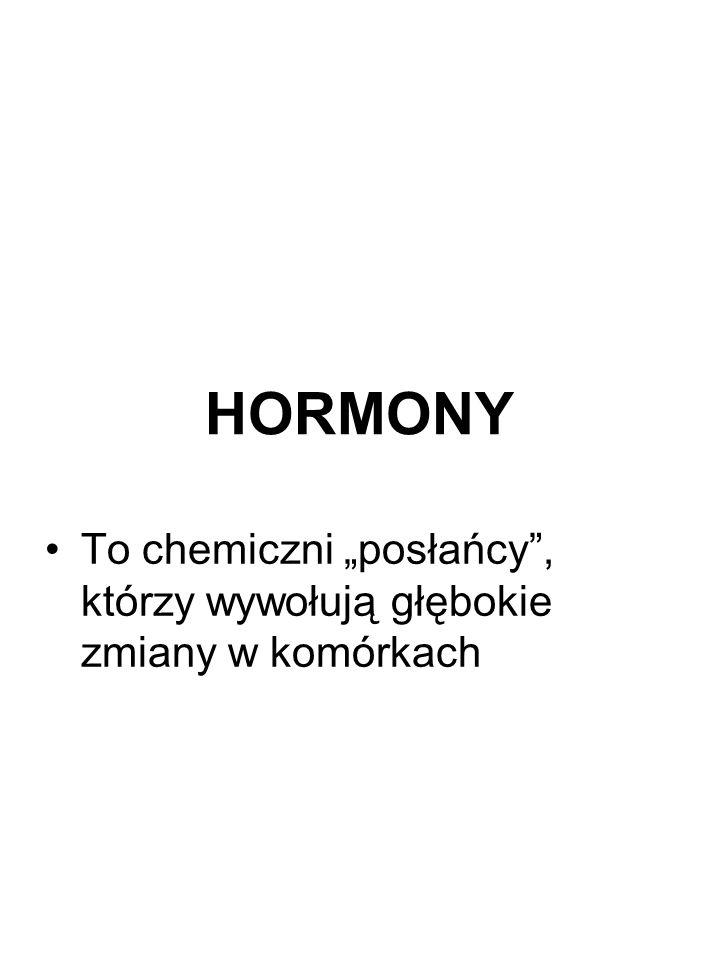 """HORMONY To chemiczni """"posłańcy , którzy wywołują głębokie zmiany w komórkach"""