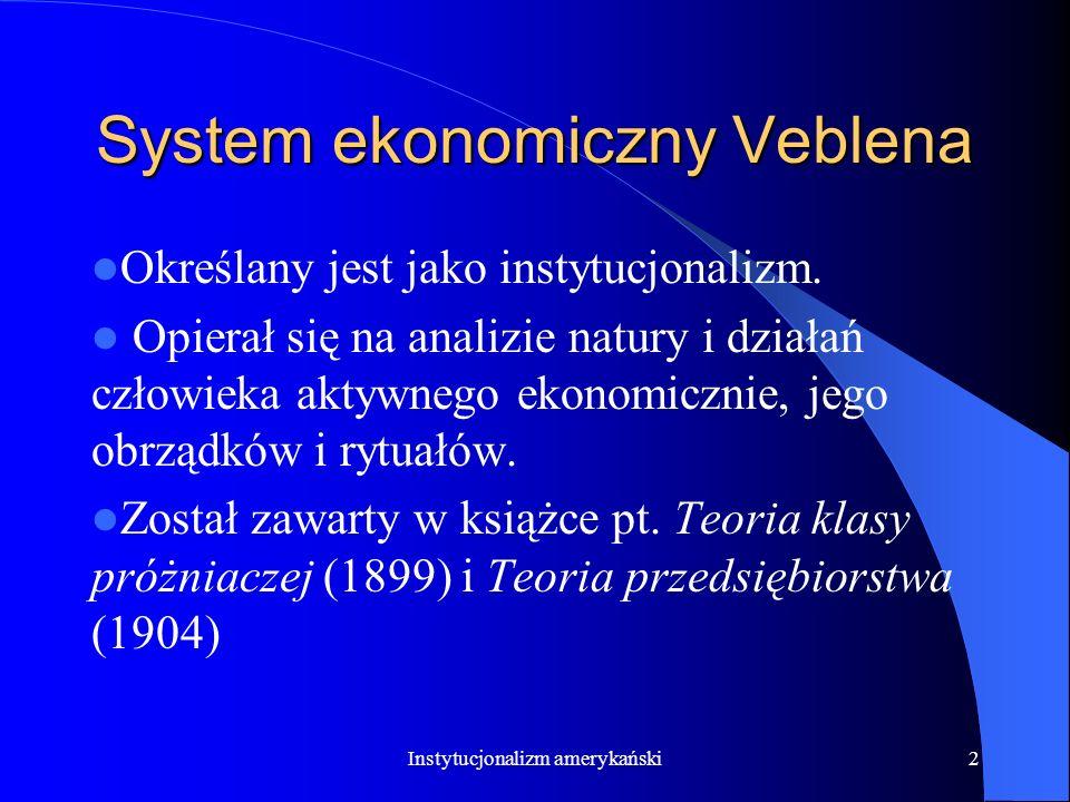 System ekonomiczny Veblena