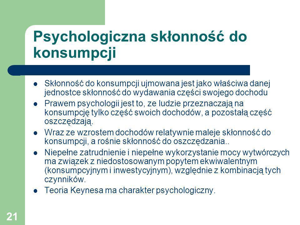 Psychologiczna skłonność do konsumpcji