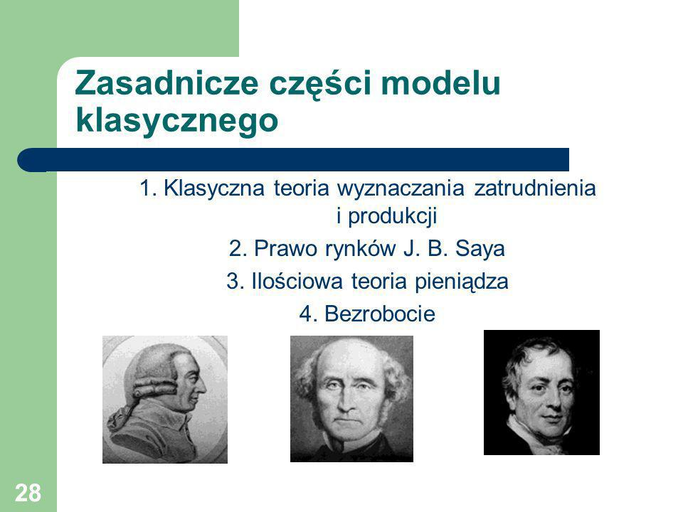 Zasadnicze części modelu klasycznego