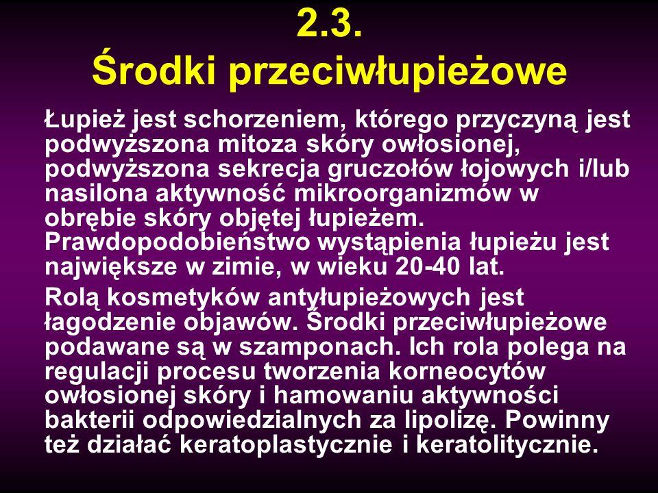 2.3. Środki przeciwłupieżowe