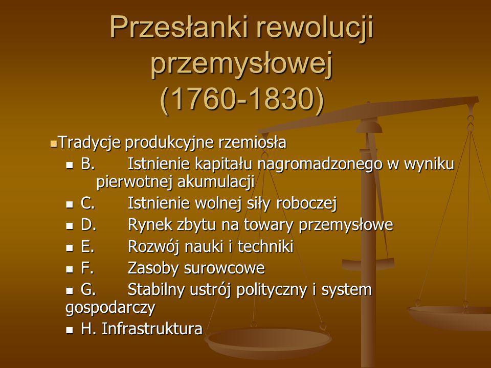 Przesłanki rewolucji przemysłowej (1760-1830)