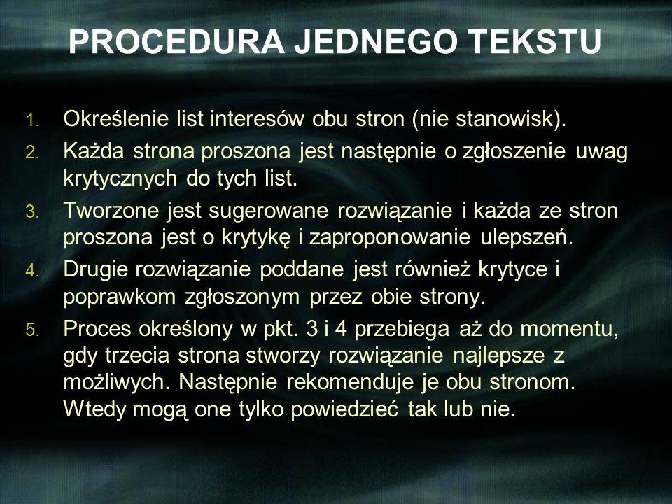 PROCEDURA JEDNEGO TEKSTU