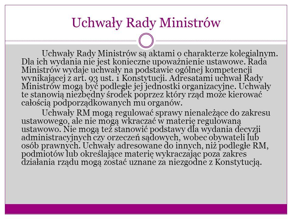 Uchwały Rady Ministrów