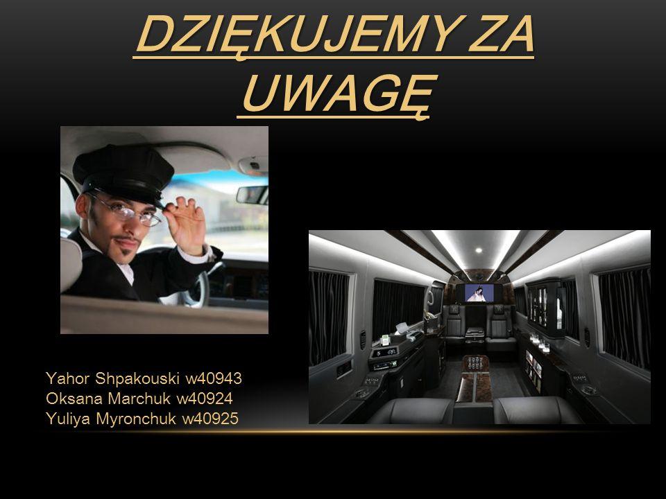 Dziękujemy za uwagę Yahor Shpakouski w40943 Oksana Marchuk w40924