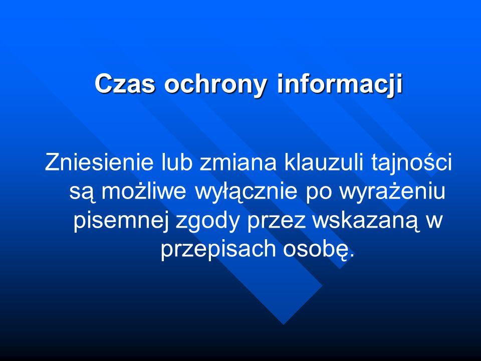 Czas ochrony informacji