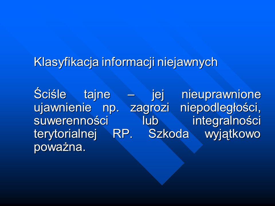 Klasyfikacja informacji niejawnych