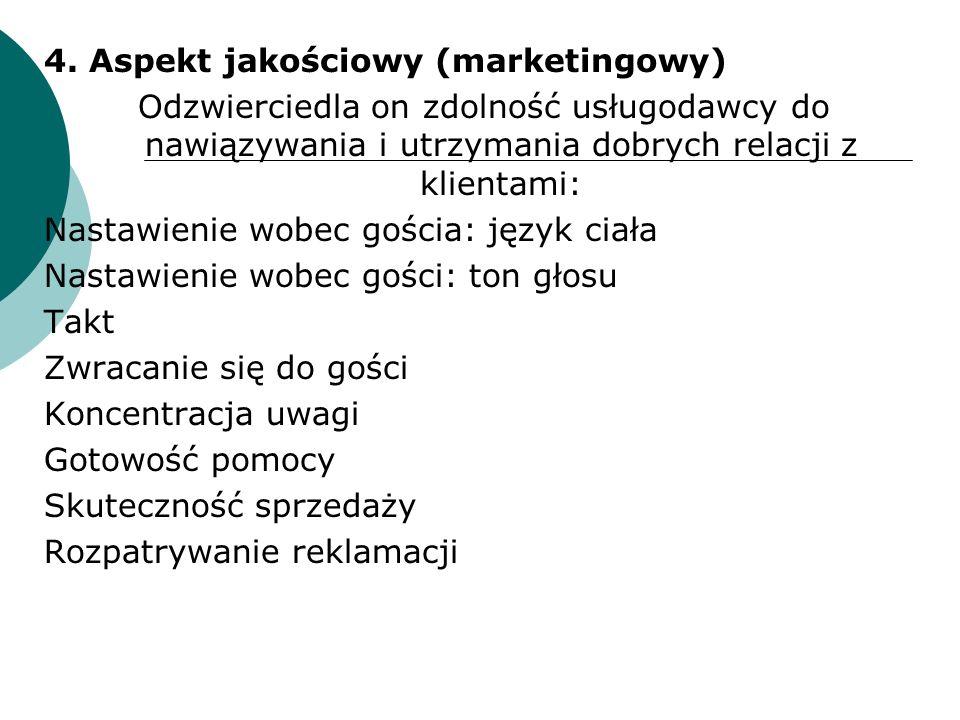 4. Aspekt jakościowy (marketingowy)