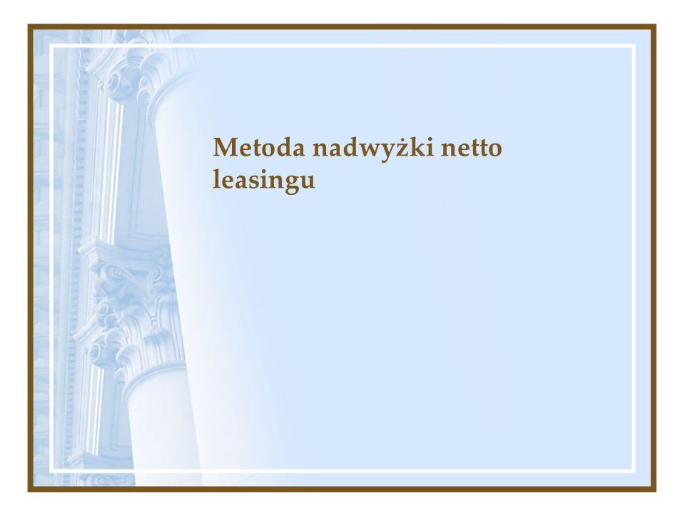 Metoda nadwyżki netto leasingu