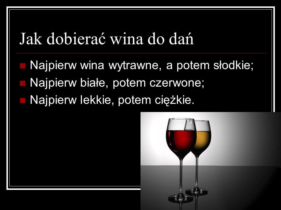 Jak dobierać wina do dań