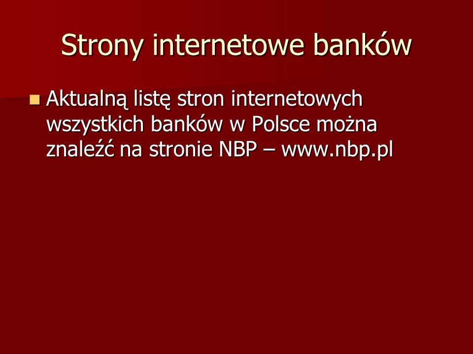 Strony internetowe banków