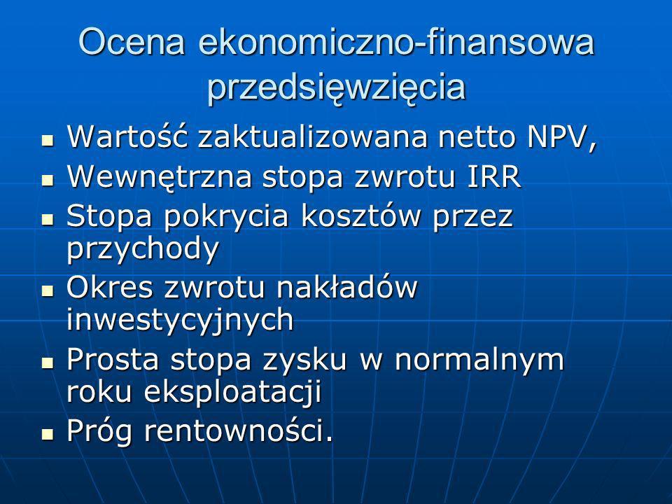 Ocena ekonomiczno-finansowa przedsięwzięcia