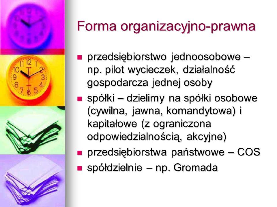 Forma organizacyjno-prawna