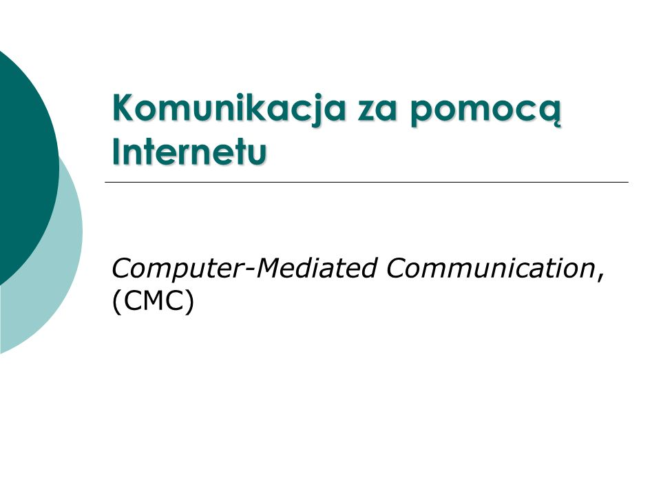 Komunikacja za pomocą Internetu