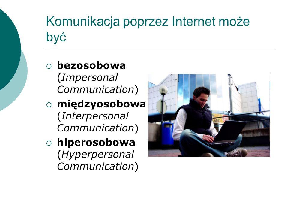 Komunikacja poprzez Internet może być