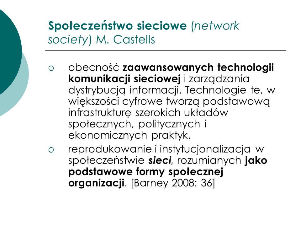 Społeczeństwo sieciowe (network society) M. Castells
