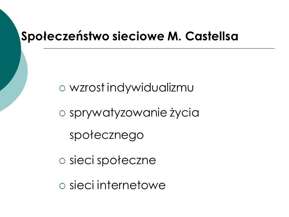 Społeczeństwo sieciowe M. Castellsa