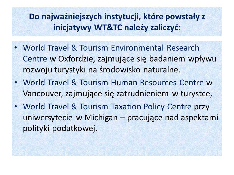 Do najważniejszych instytucji, które powstały z inicjatywy WT&TC należy zaliczyć: