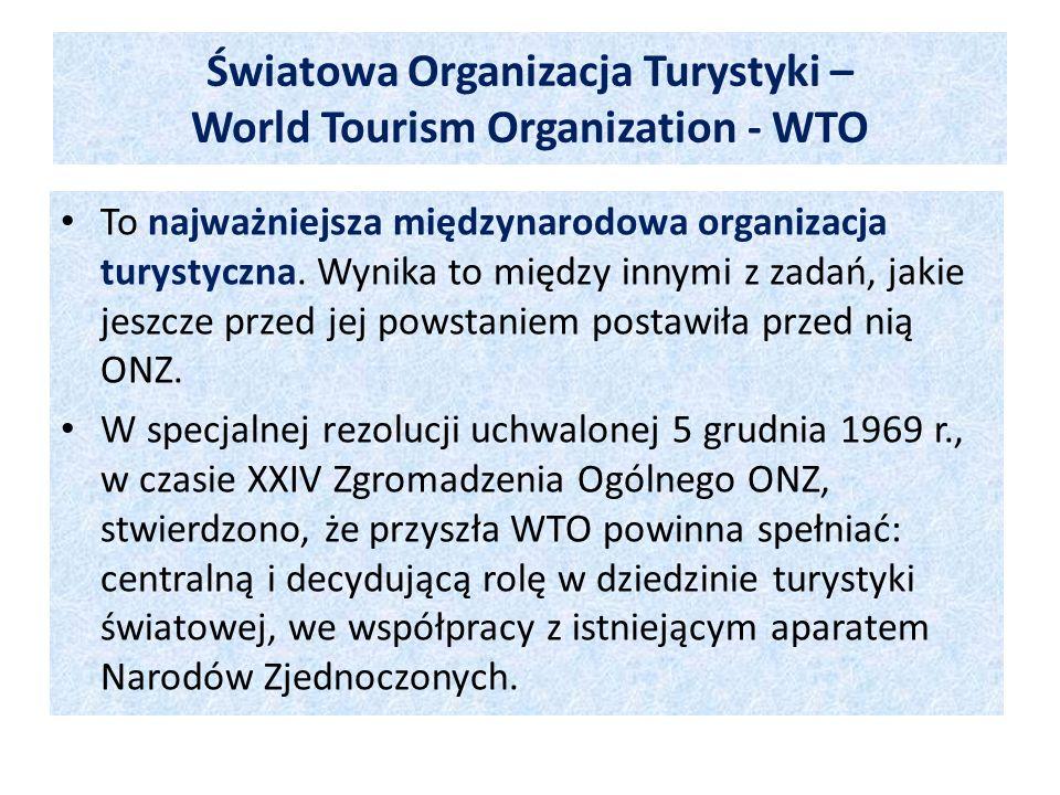 Światowa Organizacja Turystyki – World Tourism Organization - WTO