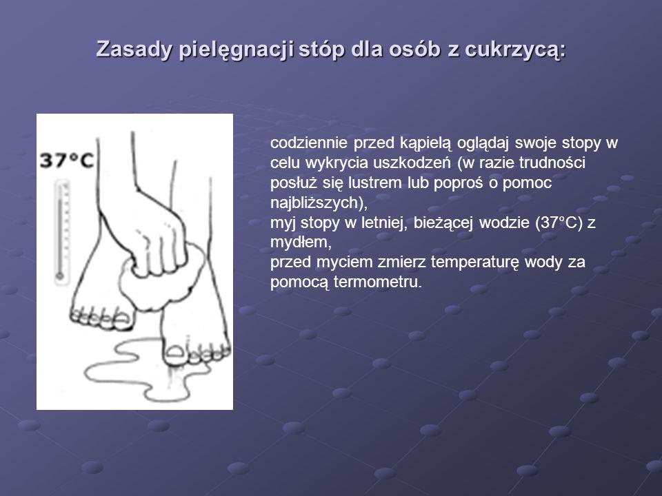 Zasady pielęgnacji stóp dla osób z cukrzycą: