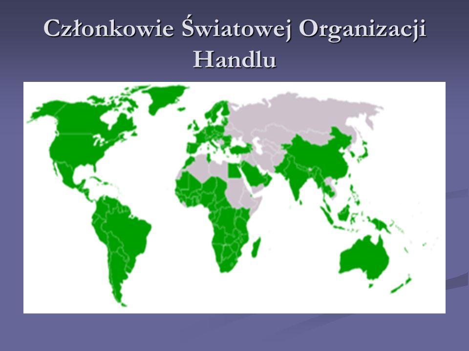 Członkowie Światowej Organizacji Handlu