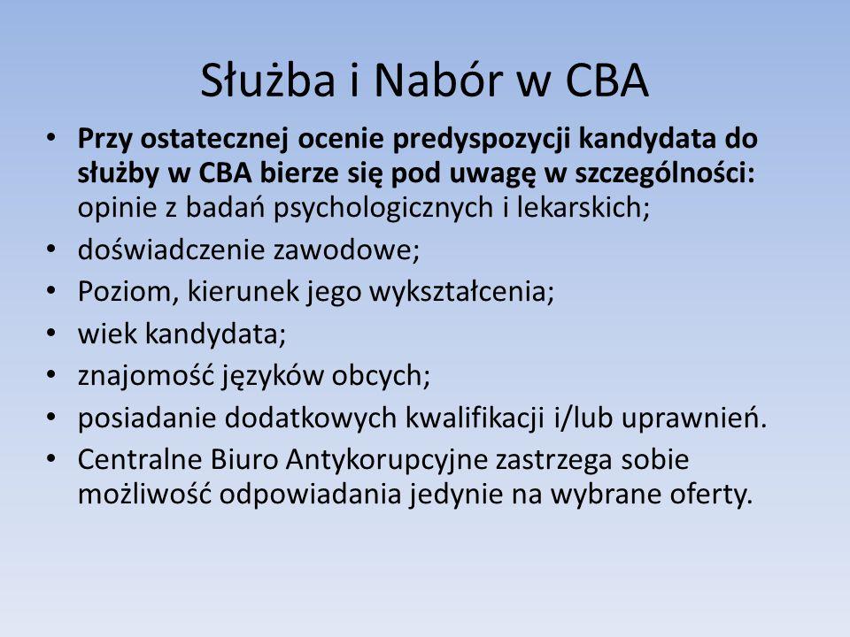 Służba i Nabór w CBA
